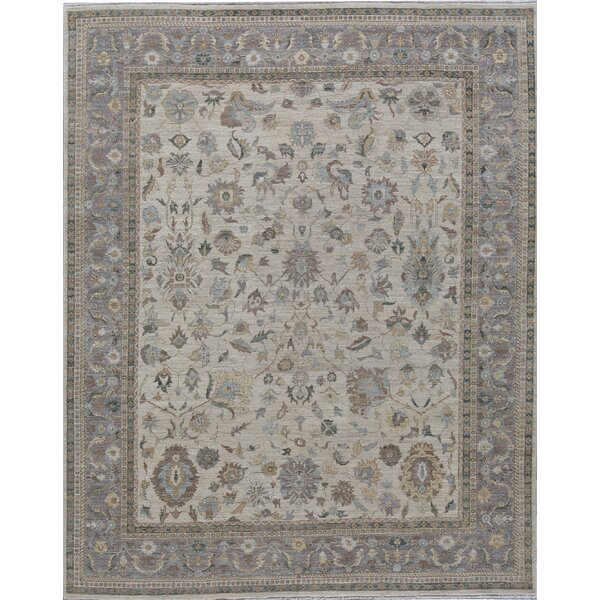 Brookhaven Oriental Hand-Knotted 8' x 10' Beige/Brown Area Rug