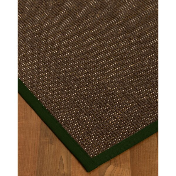 Kersh Border Hand-Woven Brown/Moss Area Rug by Bayou Breeze