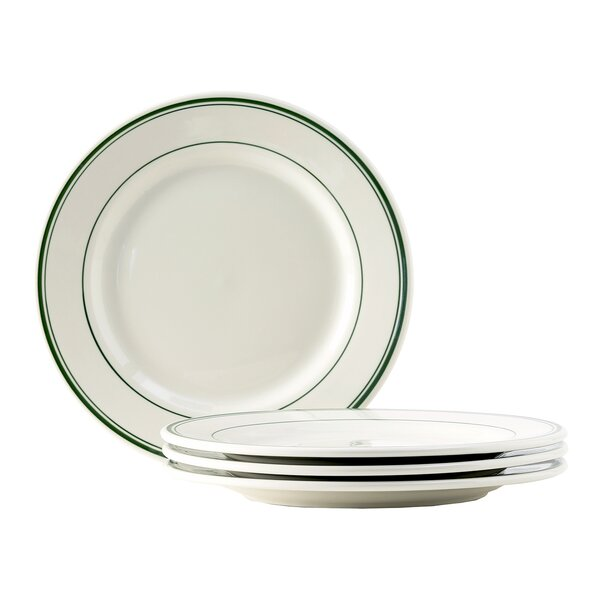 Green Bay 10 Wide Rim Dinner Plate (Set of 4) by Tuxton Home