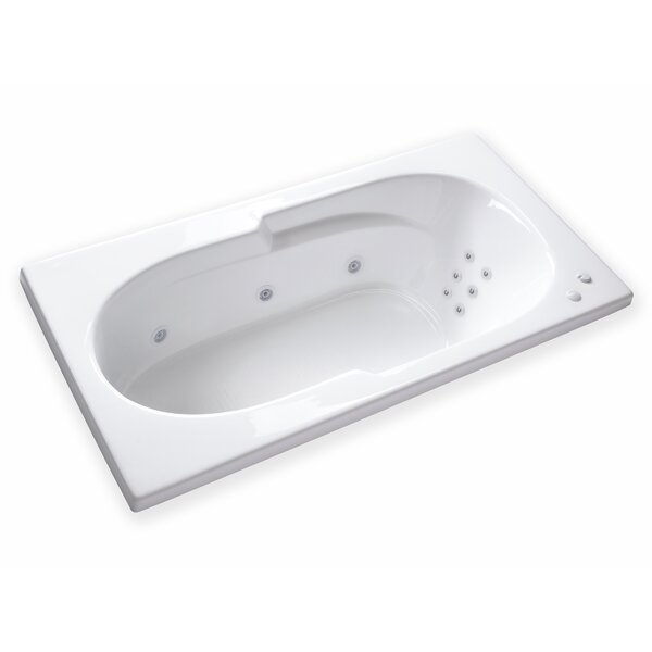 Hygienic Aqua Massage 72 x 36 Whirlpool Bathtub by Carver Tubs