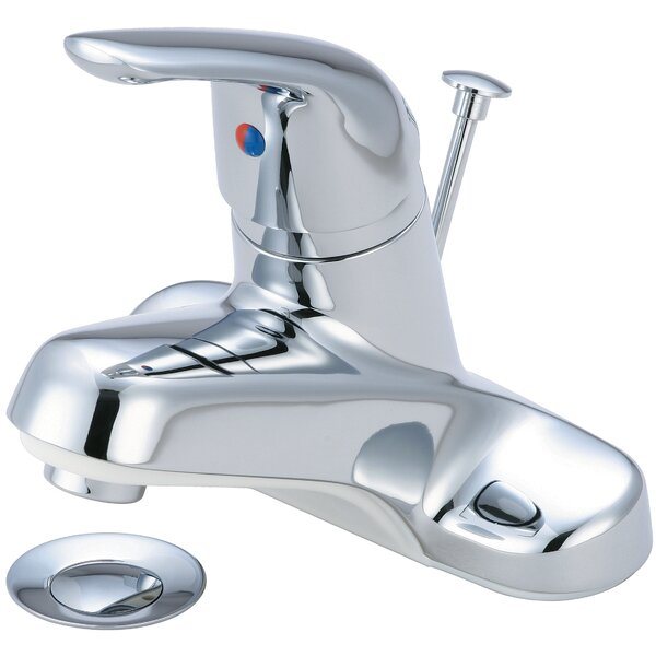 Centerset Standard Bathroom Faucet with Drain Assembly by Olympia Faucets