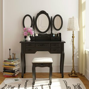 Huron Wood Vanity Set with Mirror by Alcott Hill
