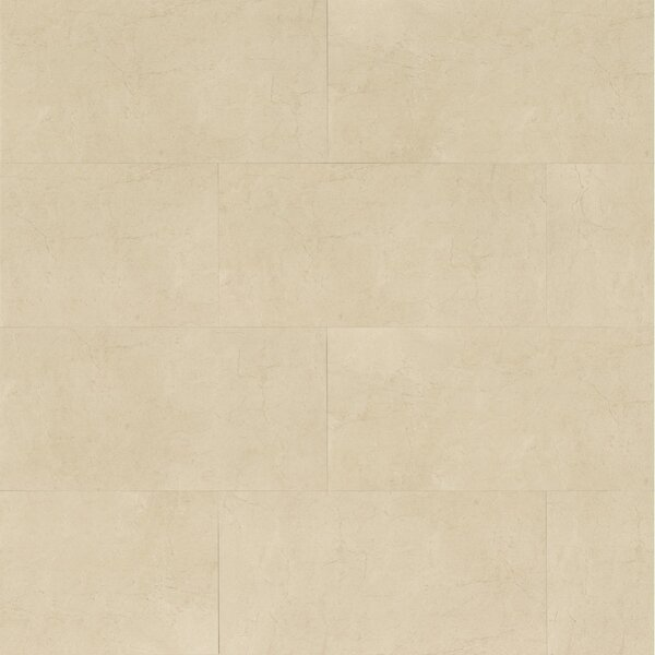 El Dorado 12 x 24 Porcelain Field Tile in Oyster Polished by Grayson Martin