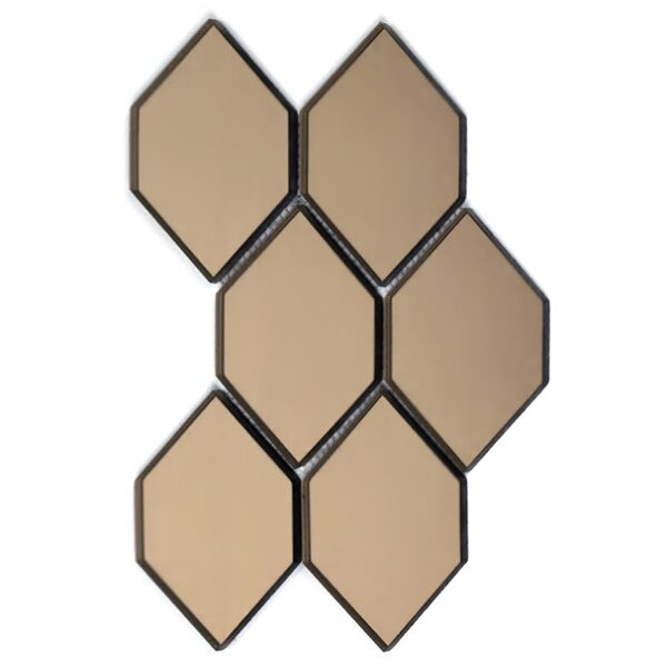 Echo 4 x 5 Glass Tile in Gold by Abolos