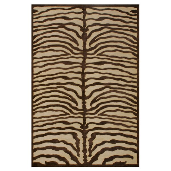 Saphir Ivory/Chocolate Area Rug by Feizy Rugs