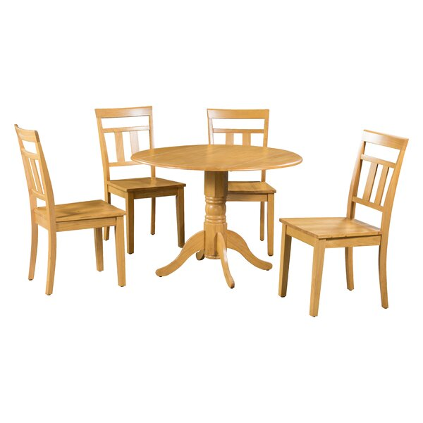 Chesterton 5 Piece Drop Leaf Solid Wood Dining Set By Alcott Hill