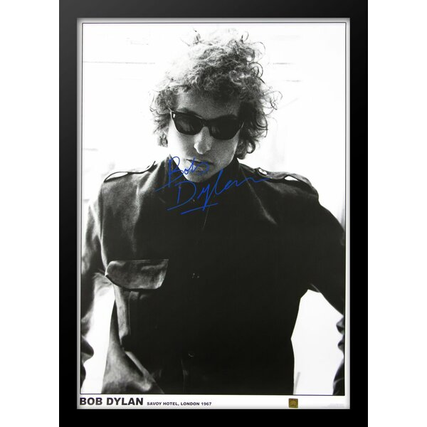 Bob Dylan Framed Autographed Poster by LuxeWest