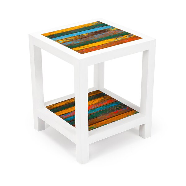 Second Wind Reclaimed Wood End Table by EcoChic Lifestyles
