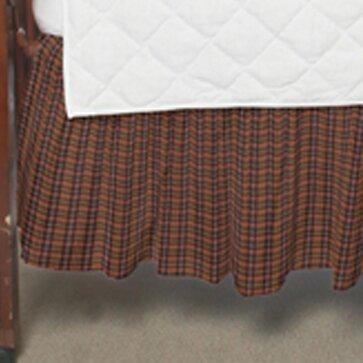 Scottie Plaid Fabric Crib Dust Ruffle by Patch Magic