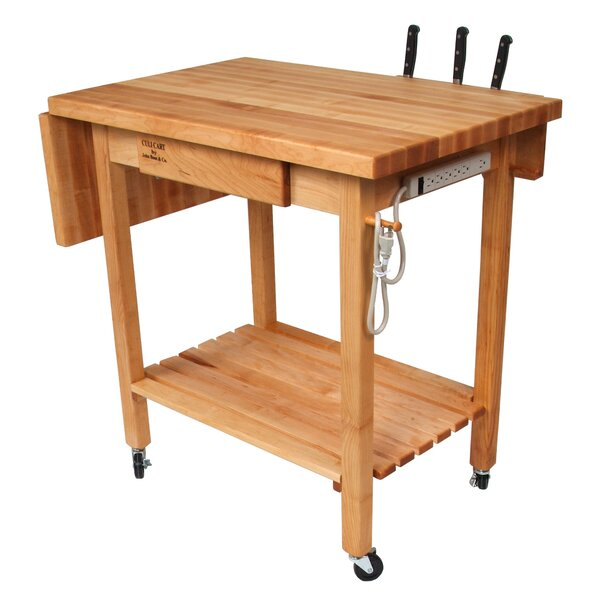 BoosBlock Kitchen Island with Butcher Block Top by John Boos