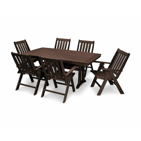 Vineyard Nautical Trestle 7 Piece Dining Set by POLYWOOD®