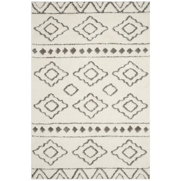 Albers Contemporary Ivory Area Rug by Foundry Select