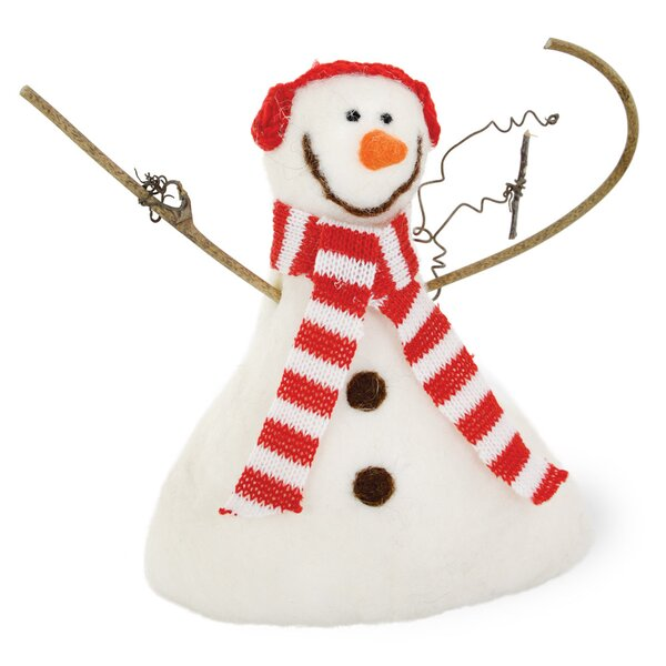 Sammi the Snowman Twig Arms Figurine (Set of 2) by The Holiday Aisle