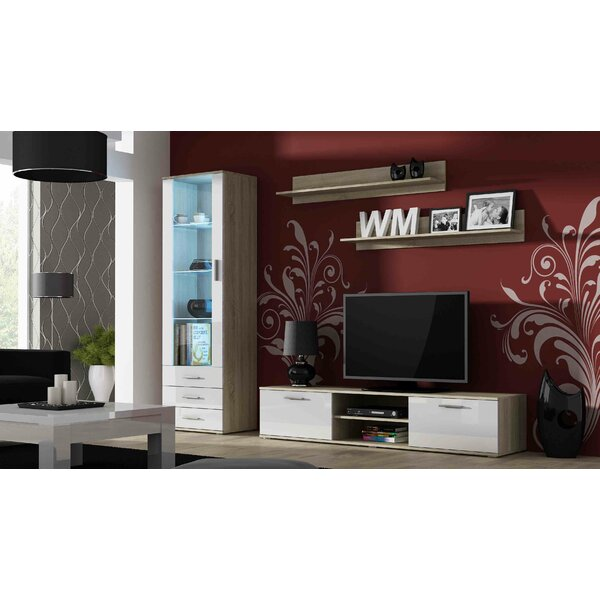 Faught Entertainment Center For TVs Up To 88