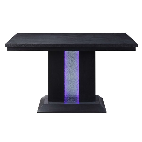 Halloway Glass Counter Height Dining Table by Latitude Run