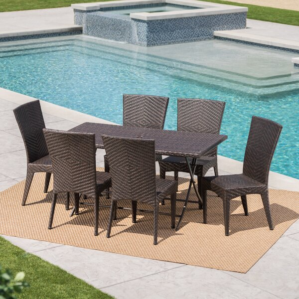 Sharvil Outdoor Wicker 7 Piece Dining Set by Orren Ellis