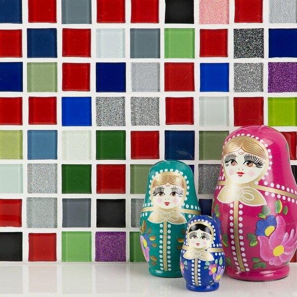 1 x 1 Glass Mosaic Tile in Sakura by Splashback Tile