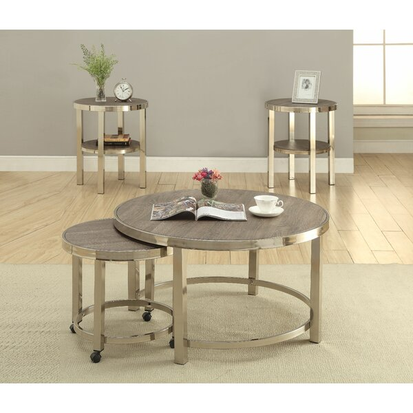 Stacie 4 Piece Coffee Table Set by Mercer41 Mercer41