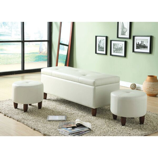 Ibrahim Faux Leather Storage Bench by A&J Homes Studio