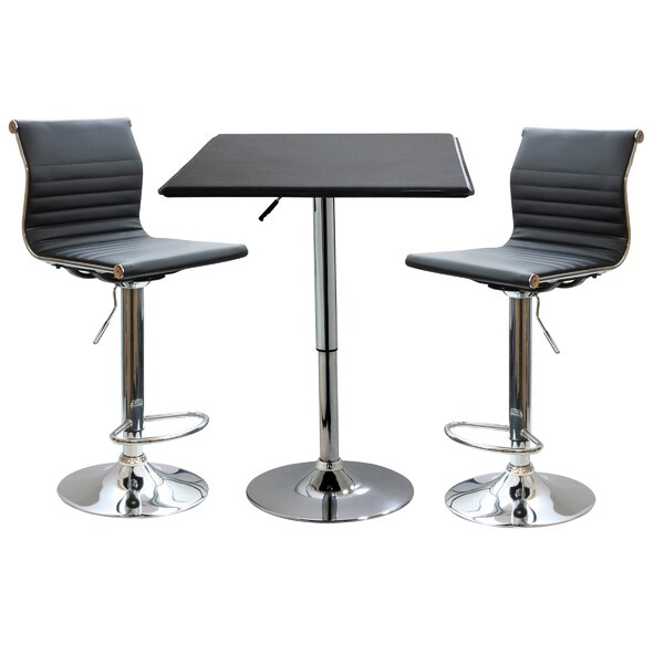 Southampton II 3 Piece Adjustable Height Pub Table Set by Latitude Run