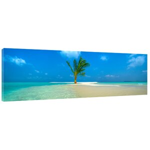 One Palm Island Photographic Print on Wrapped Canvas by Colossal Images