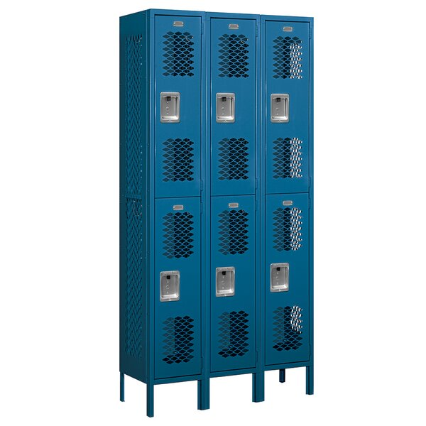 2 Tier 3 Wide School Locker by Salsbury Industries