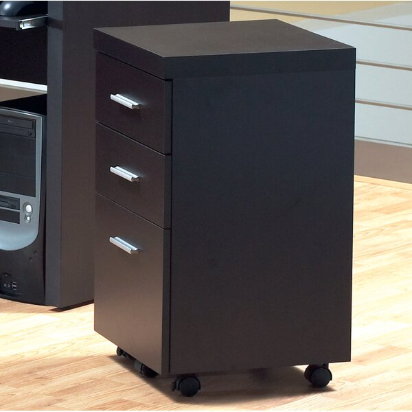 @ 3-Drawer Hollow-Core Mobile File Cabinet by Monarch Specialties Inc.| #$270.00!