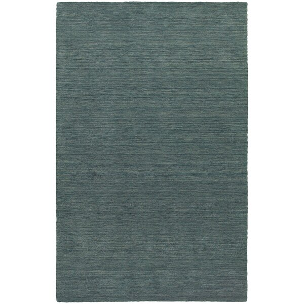 Barrientos Hand-Woven Heathered Blue Area Rug by Brayden Studio