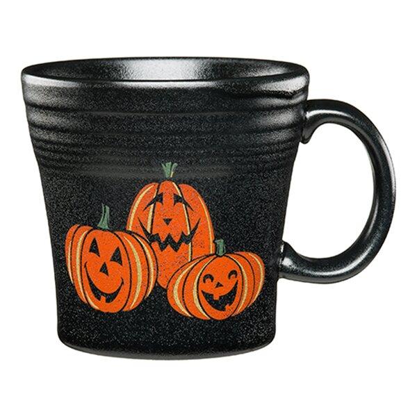 Tapered Mug Trio of Happy Pumpkins by Fiesta