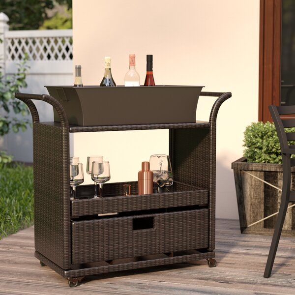 Lacey Bar Serving Cart By Mercury Row