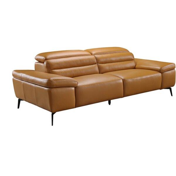 Kean Leather Sofa by Orren Ellis