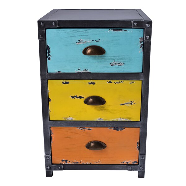 Thursa 3 Drawer Nightstand by 17 Stories