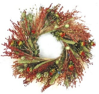 22 Fall Grasslands Wreath by Dried Flowers and Wreaths LLC