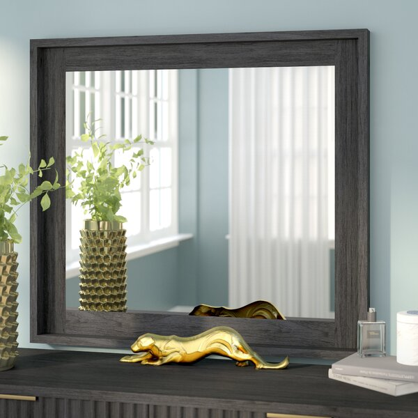 Holford Beveled Glass Square Dresser Mirror by Willa Arlo Interiors
