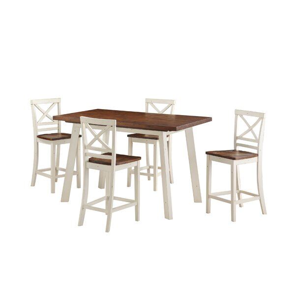 Yeboah 5-Piece Counter Height Dining Set by August Grove August Grove