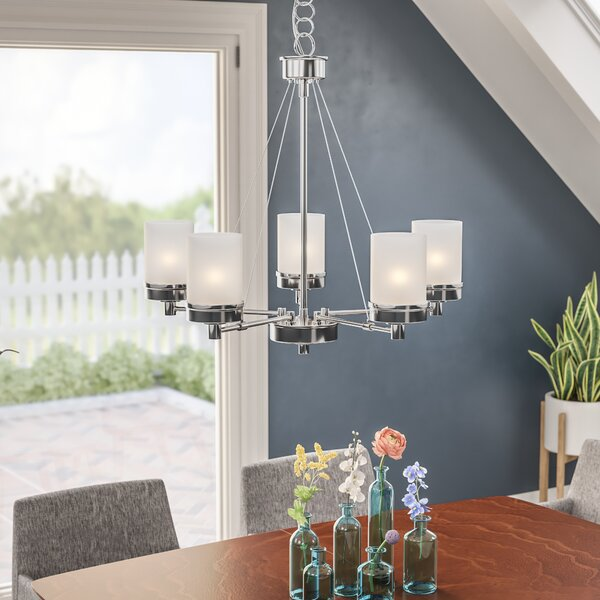 Kincer 5 - Light Shaded Tiered Chandelier By Latitude Run