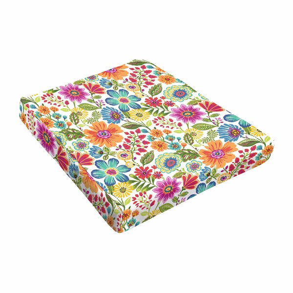 Floral Indoor/Outdoor Dining Chair Cushion By Winston Porter