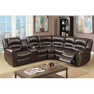 Eisenman 3 Piece Reclining Sectional Set Red Barrel Studio