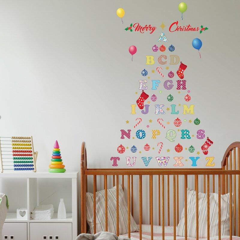 Nursery Alphabet Merry Christmas Tree Wall Decal  sc 1 st  Wayfair & The Holiday Aisle Nursery Alphabet Merry Christmas Tree Wall Decal ...