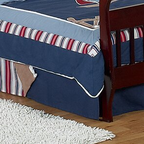 Nautical Nights Queen Bed Skirt by Sweet Jojo Designs