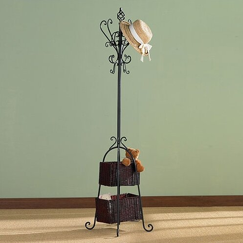 Verna Coat Rack with Storage by Fleur De Lis Living