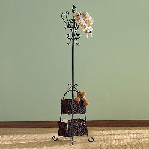 Verna Coat Rack with Storage by Fleur De Lis Living