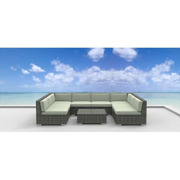 Tahiti 9 Piece Sectional Set with Cushions by Urban Furnishings