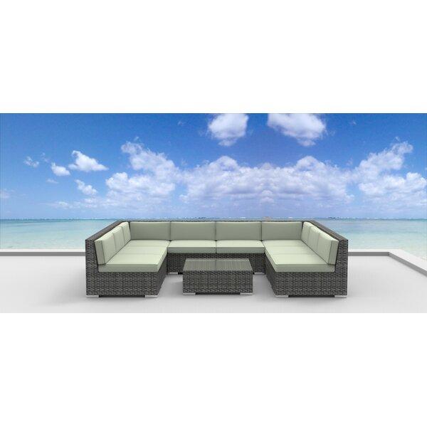 Tahiti 9 Piece Sectional Set with Cushions by Urban Furnishings