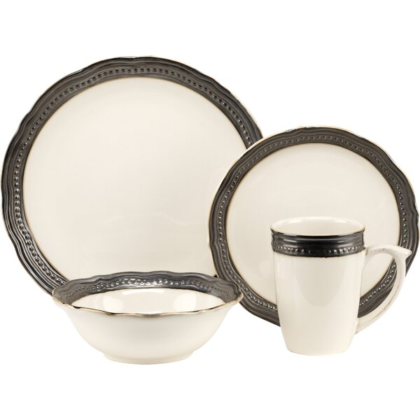 Jenna 16 Piece Dinnerware Set, Service for 4 by Cuisinart