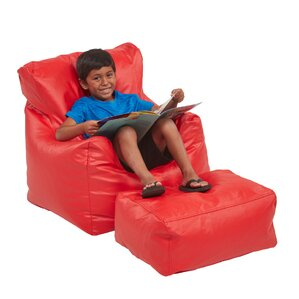 Bean Bag Chair and Ottoman by ECR4kids