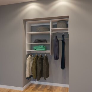 Compare Clay 54 W Organizer Closet System (Set of 3) By Rebrilliant