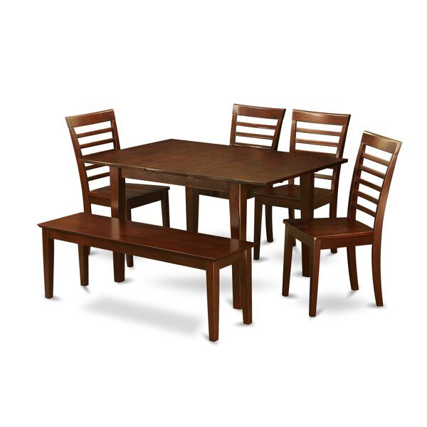 Lorelai 6 Piece Dining Set by Alcott Hill