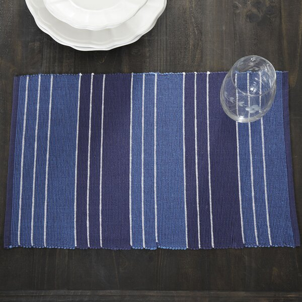 Kylie Striped Placemats (Set of 6) by Birch Lane™