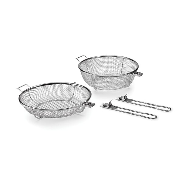 Jumbo Grill BBQ Basket with Removable Handles by O